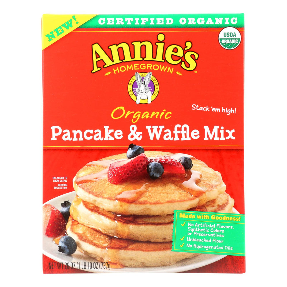 Make Annie's Organic Pancake & Waffle Mix And - Case Of 8 - 26 Oz