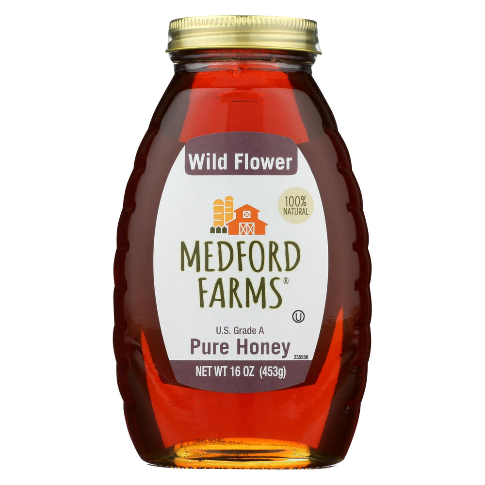 Medford Farms Honey - Wild Flower - Case Of 12 - 16 Oz