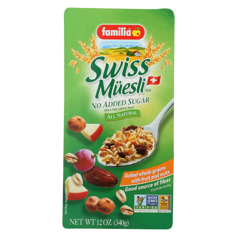 Familia Swiss Muesli - No Added Sugar - Case Of 6 - 12 Oz