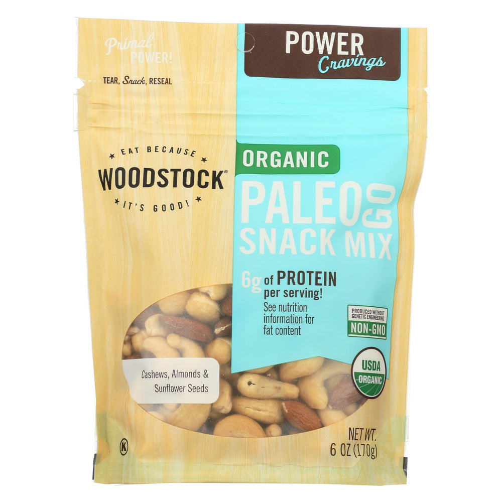 Woodstock Organic Paleo Go Snack Mix - Case Of 8 - 6 Oz.