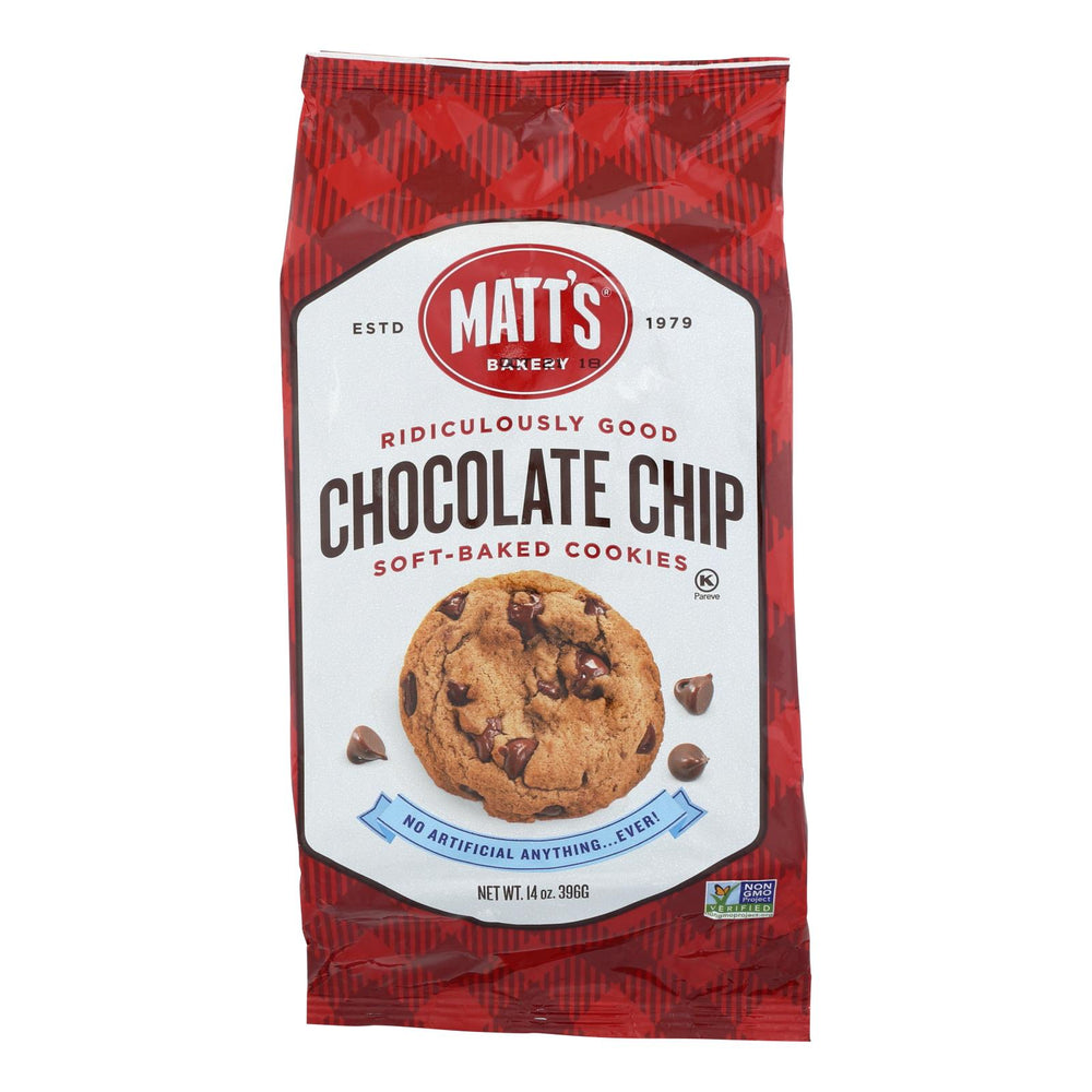 Matt's Bakery Chocolate Chip Soft-baked Cookies - Case Of 6 - 14 Oz