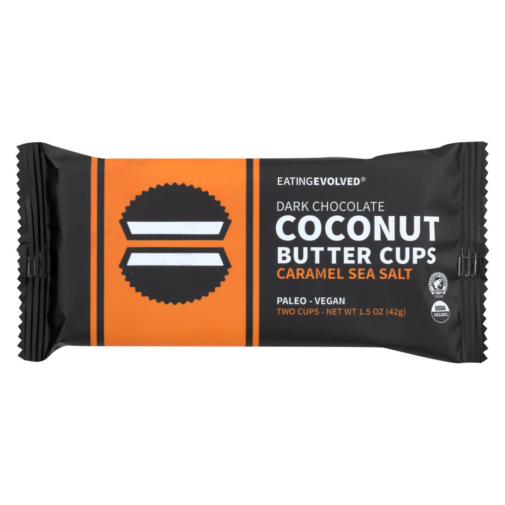 Eating Evolved Coconut Butter Cups - Caramel Sea Salt - Case Of 9 - 1.5 Oz.