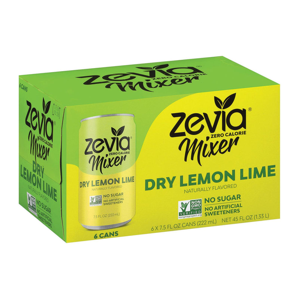 Zevia Zero Calorie Mixer - Dry Lemon Lime - Case Of 4 - 6-7.5 Fl Oz