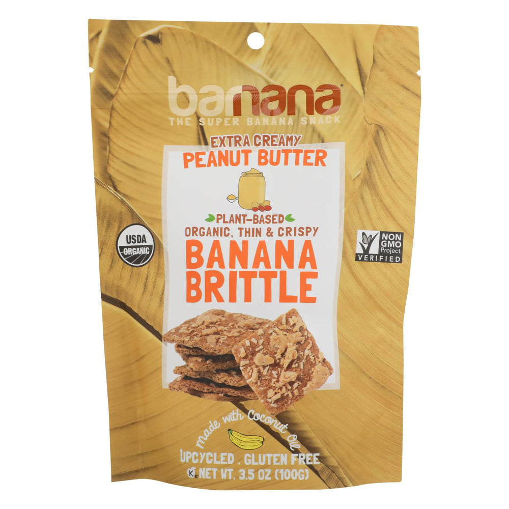 Barnana Ban Brittle - Organic - Peanut Butter - Case Of 10 - 3.5 Oz