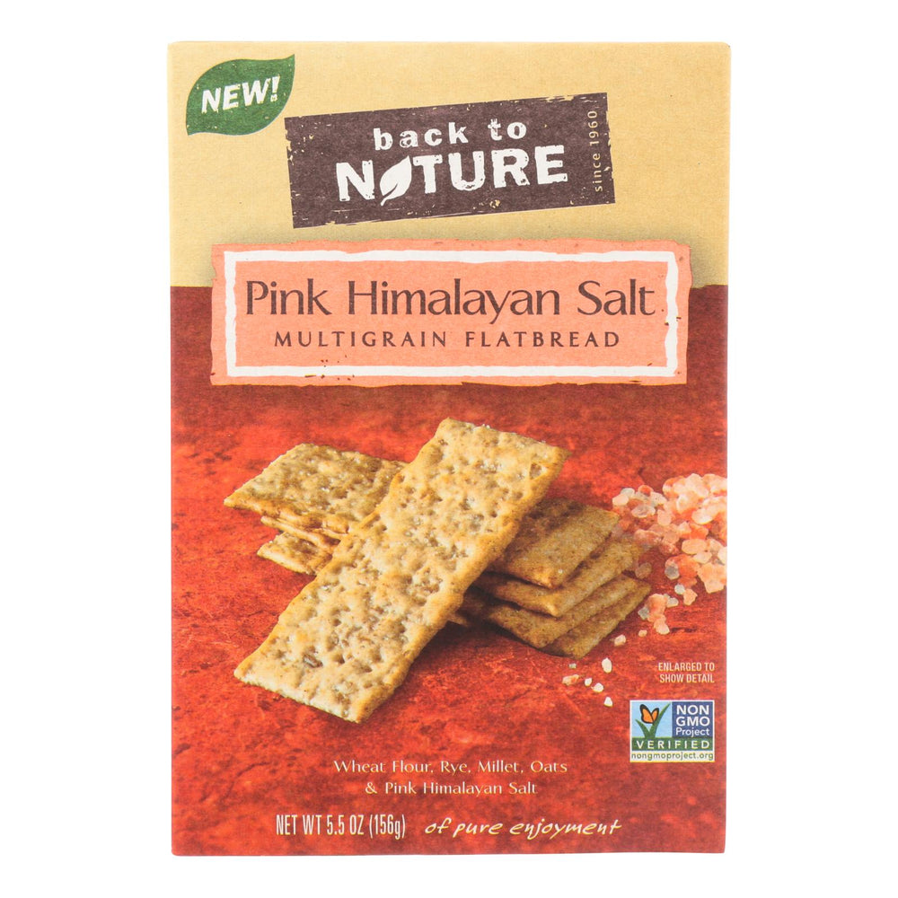 Back To Nature Multigrain Flatbread - Pink Himalayan Salt - Case Of 6 - 5.5 Oz