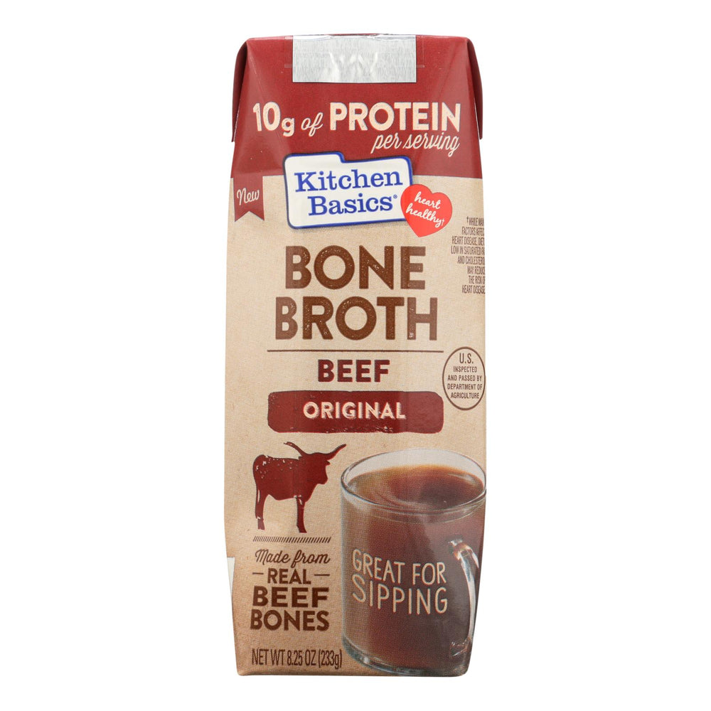 Kitchen Basics Beef Bone Broth - Case Of 12 - 8.25 Fz