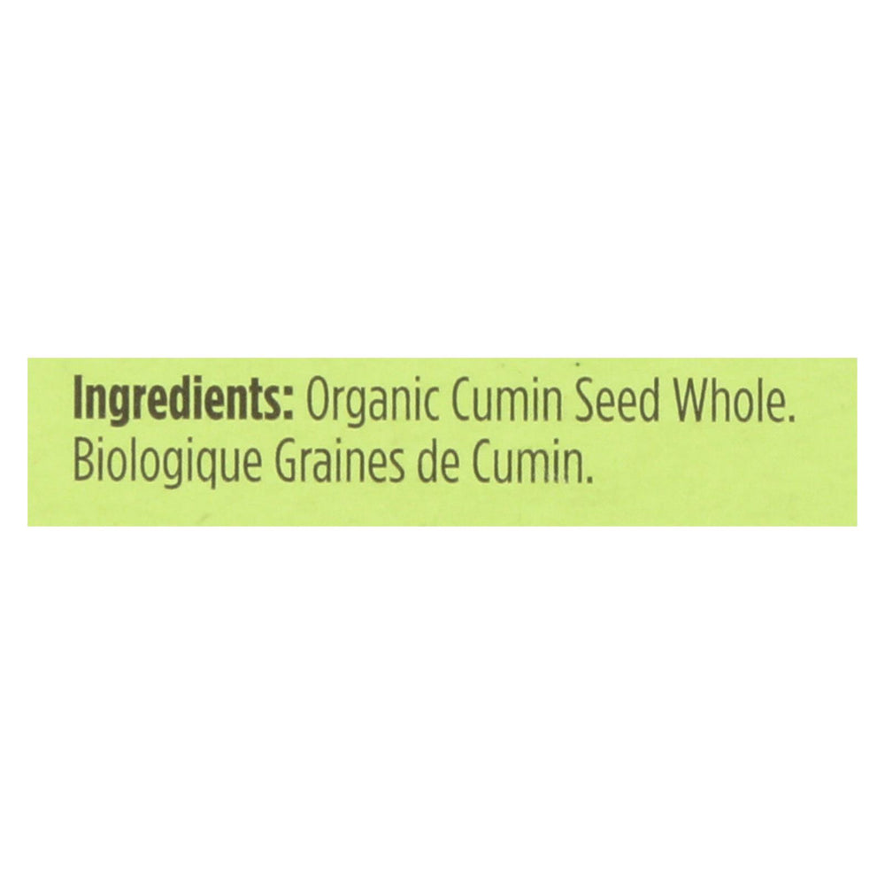 Spicely Organics - Organic Cumin Seed - Whole - Case Of 6 - 0.5 Oz.