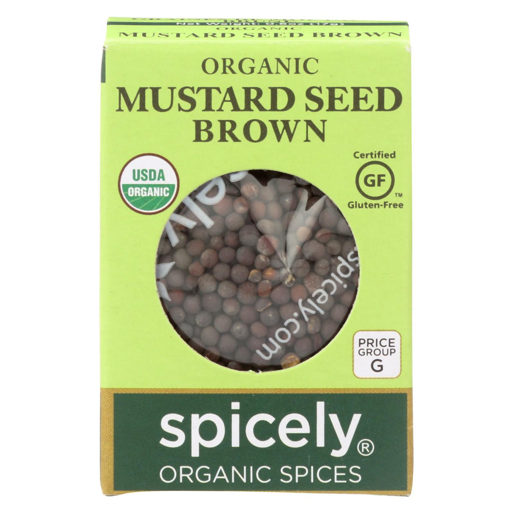 Spicely Organics - Organic Mustard Seed - Brown - Case Of 6 - 0.6 Oz.