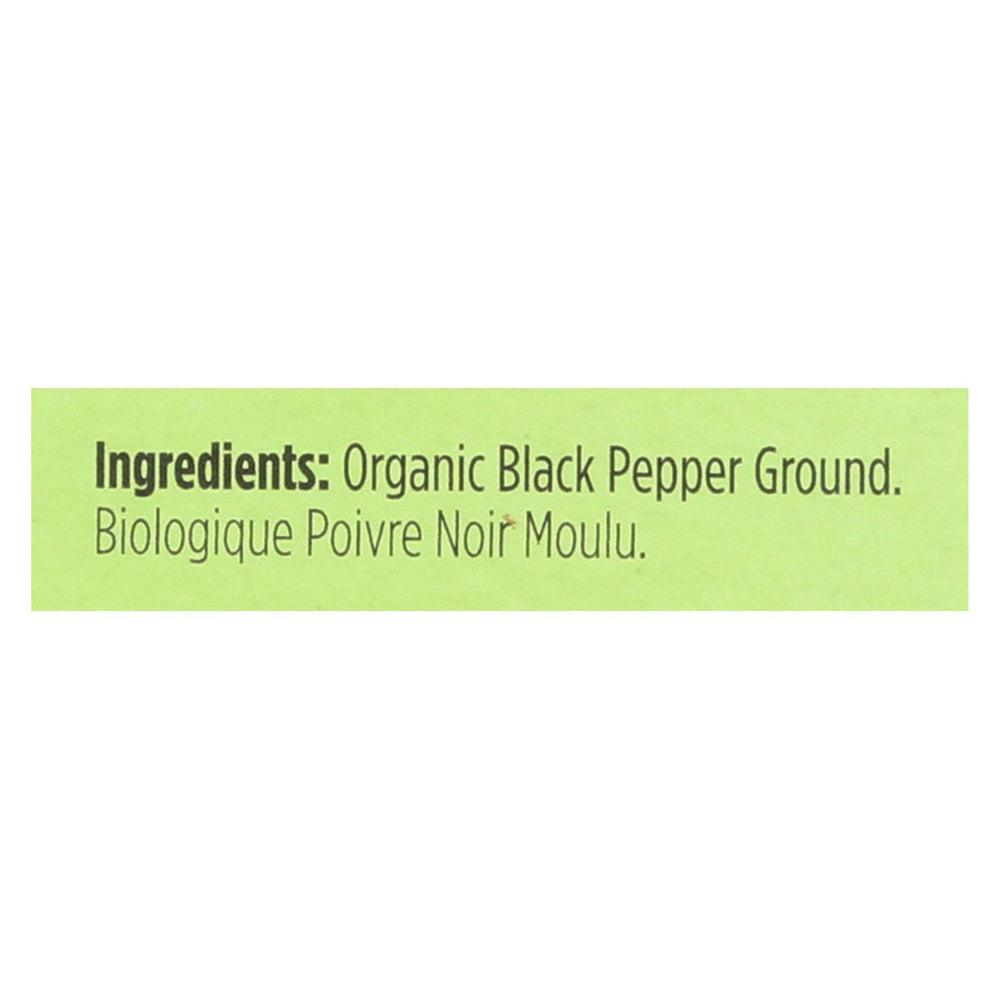 Spicely Organics - Organic Peppercorn - Black Ground - Case Of 6 - 0.45 Oz.