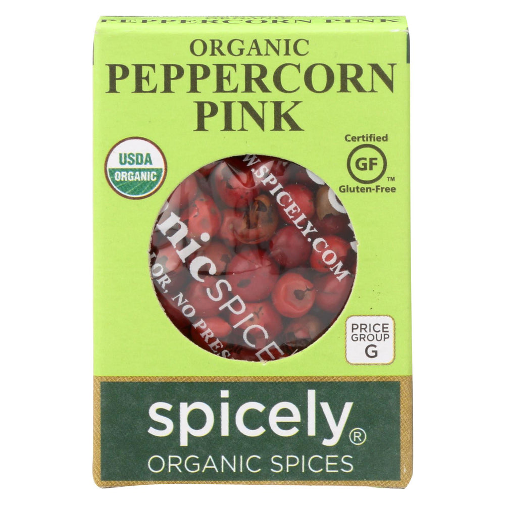 Spicely Organics - Organic Peppercorn - Pink - Case Of 6 - 0.15 Oz.