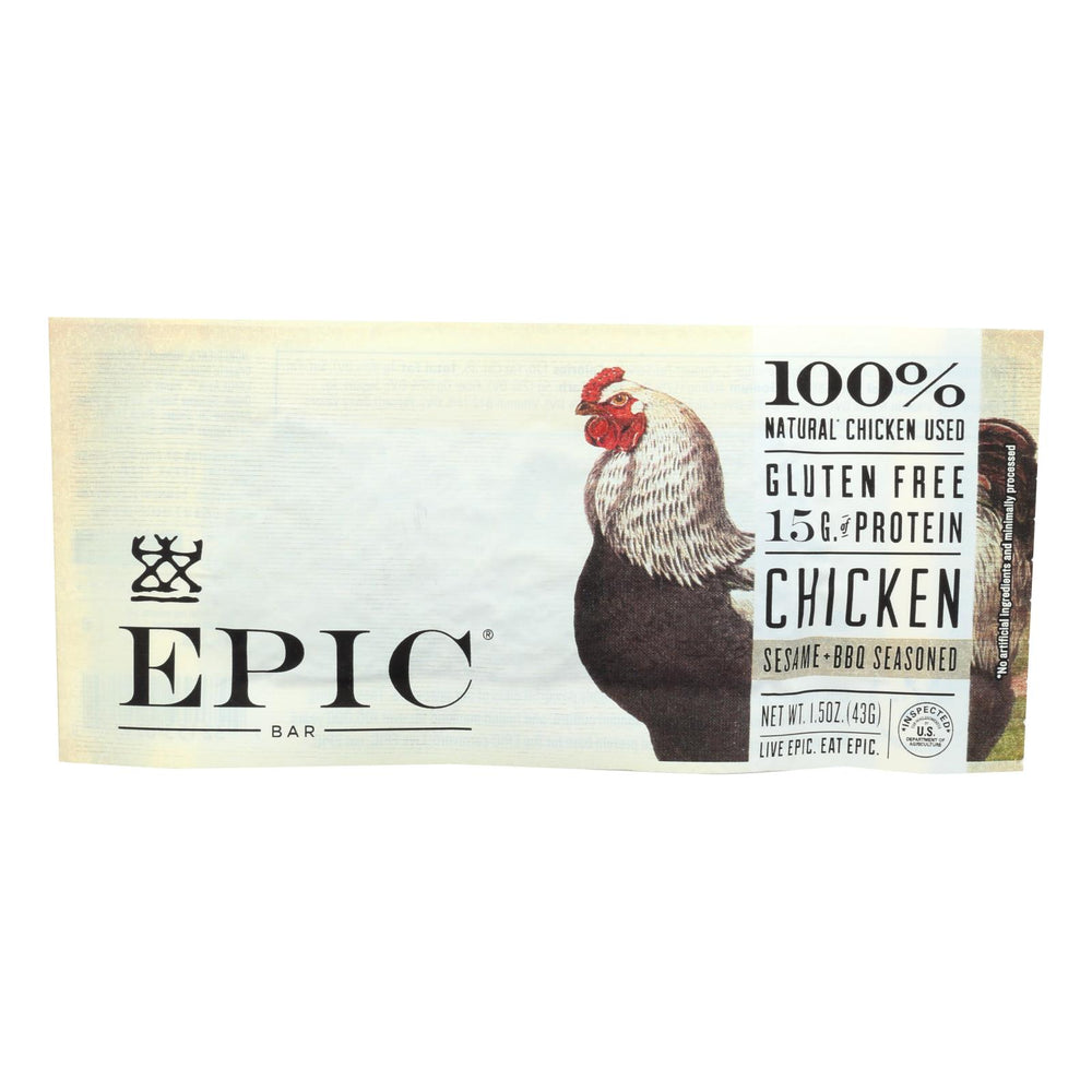 Epic - Bar - Chicken - Sesame - Bbq Seasoned - Case Of 12 - 1.5 Oz