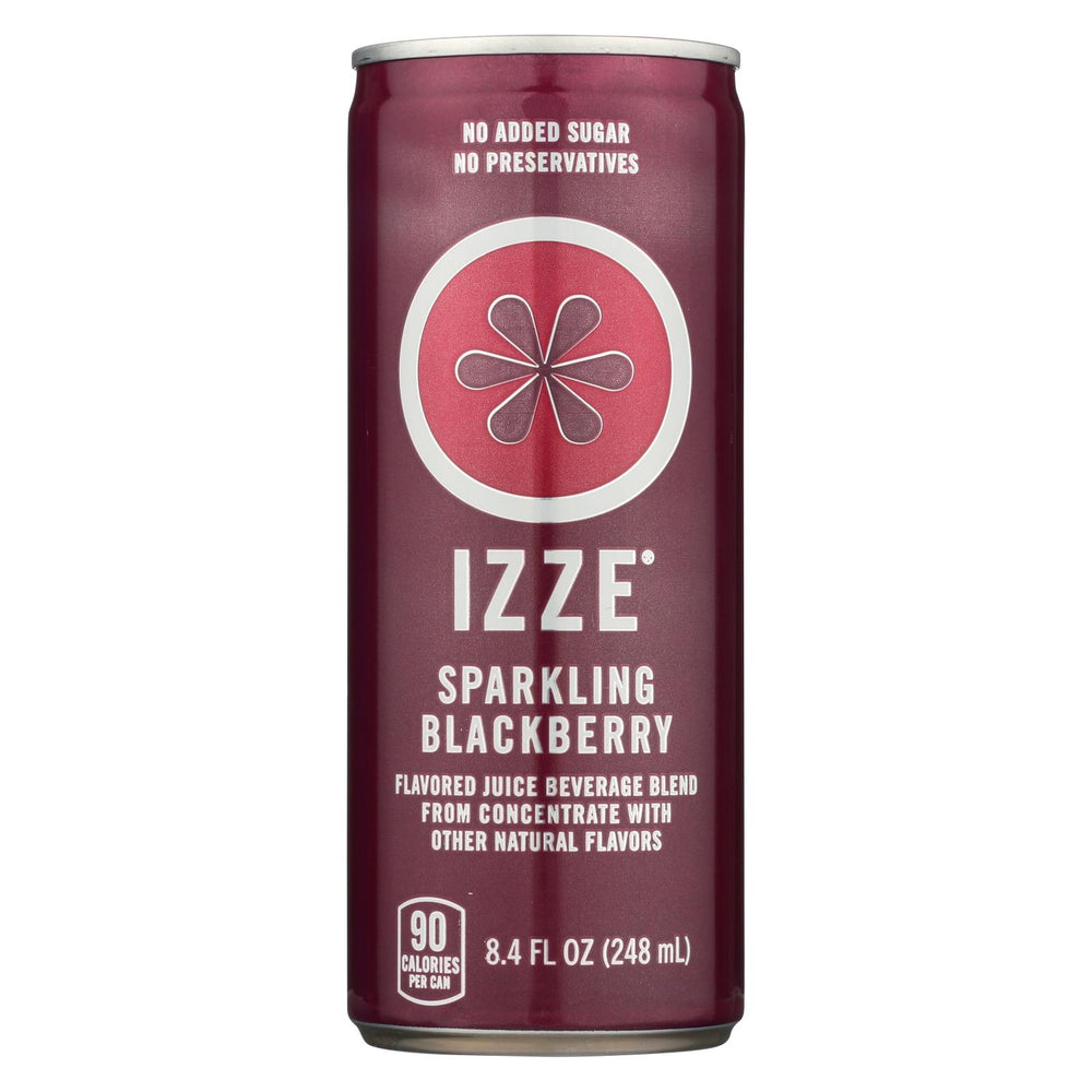 Izze Can - Sparkling - Blackberry - Case Of 12 - 8.4 Fl Oz