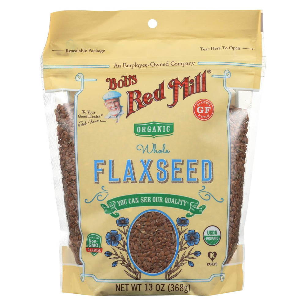 Bob's Red Mill - Organic Flaxseeds - Brown - Case Of 6 - 13 Oz