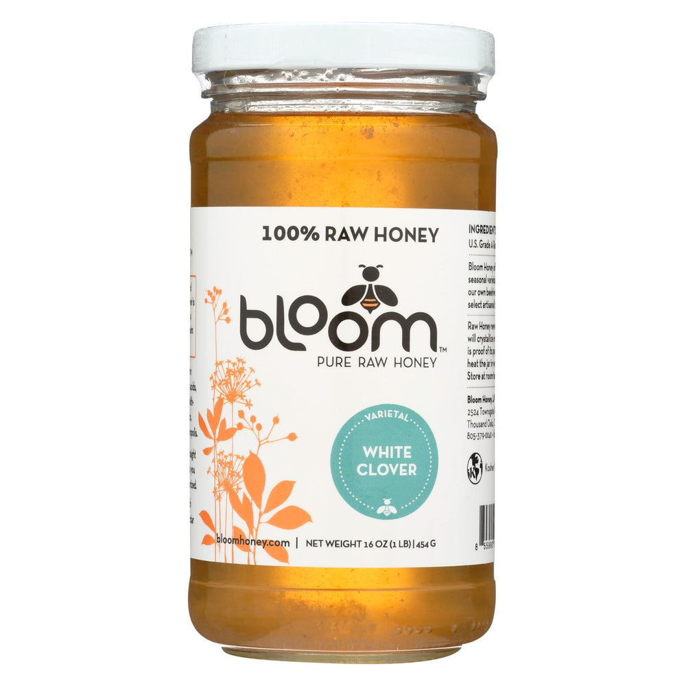 Bloom Honey - Honey - White Clover - Case Of 6 - 16 Oz.