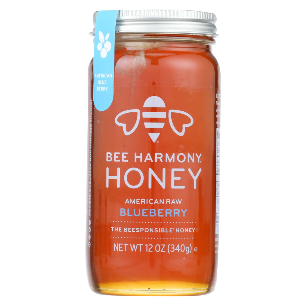 Bee Harmony - Honey - American Raw Blueberry - Case Of 6-12 Oz.