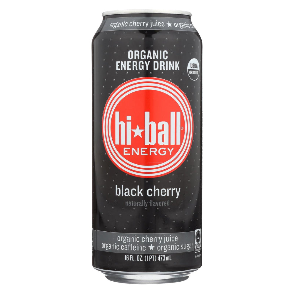Hi Ball Energy Energy Drink - Black Cherry - Case Of 1 - 8-16 Fl Oz.