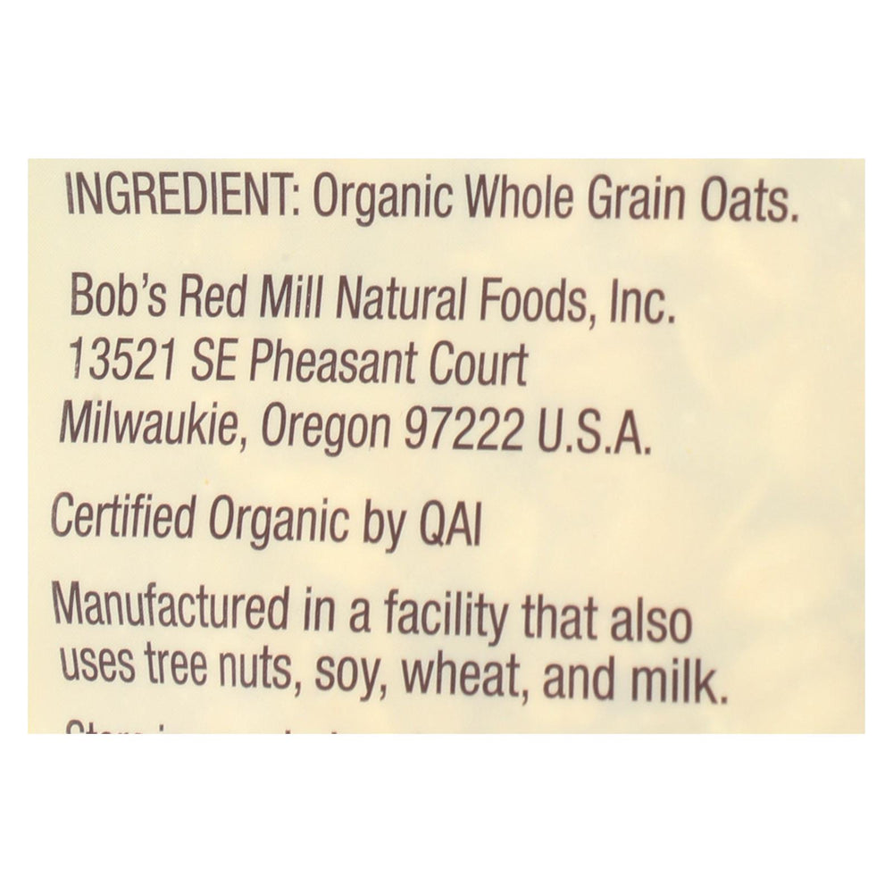 Bob's Red Mill - Organic Old Fashioned Rolled Oats - Case Of 4-16 Oz