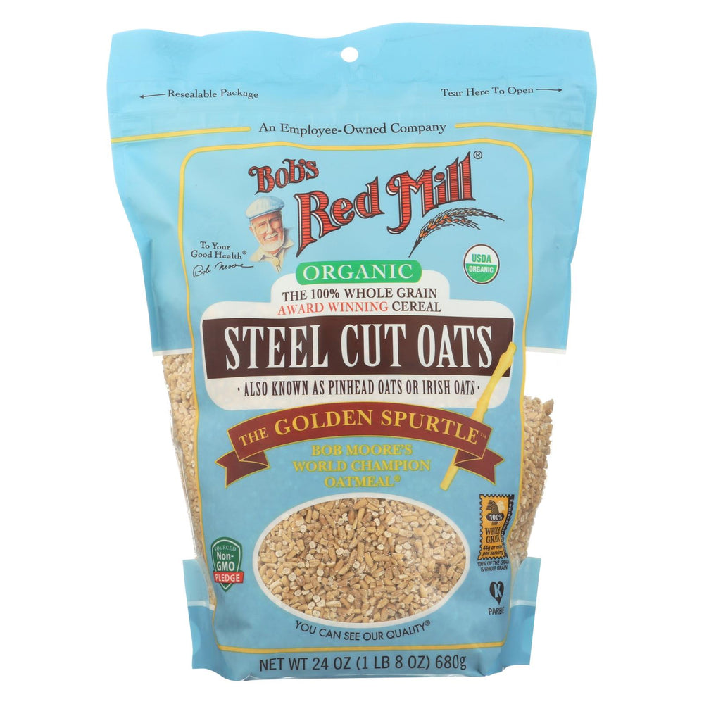 Bob's Red Mill - Oats - Organic Steel Cut Oats - Case Of 4 - 24 Oz.