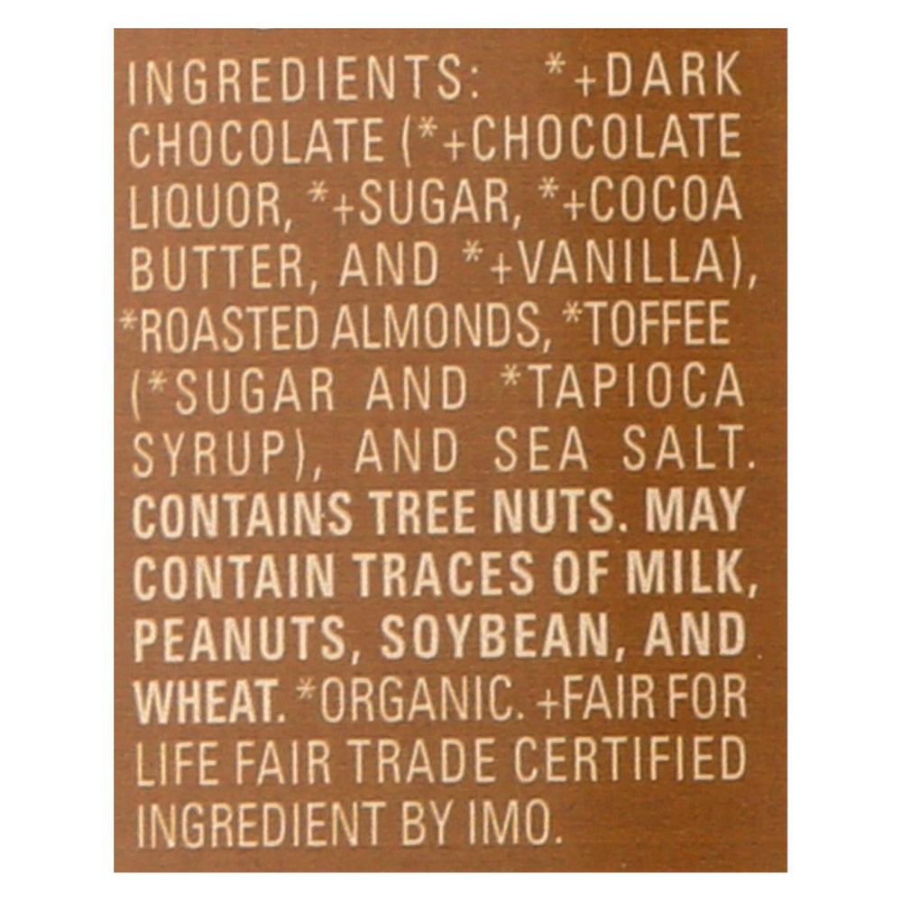 Lake Champlain Chocolates - Chocolate Square - Dark With Toffee & Almonds - Case Of 106 - .4 Oz.