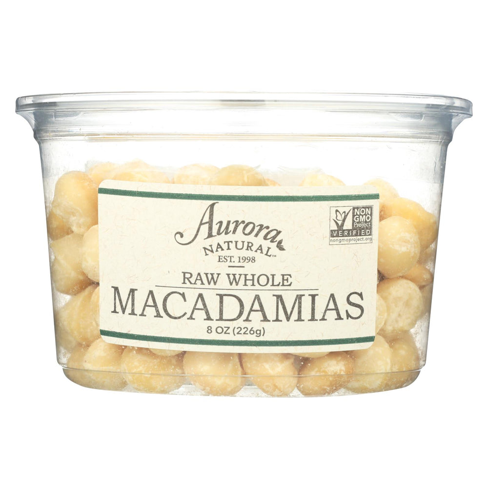 Aurora Natural Products - Raw Whole Macadamias - Case Of 12 - 8 Oz.