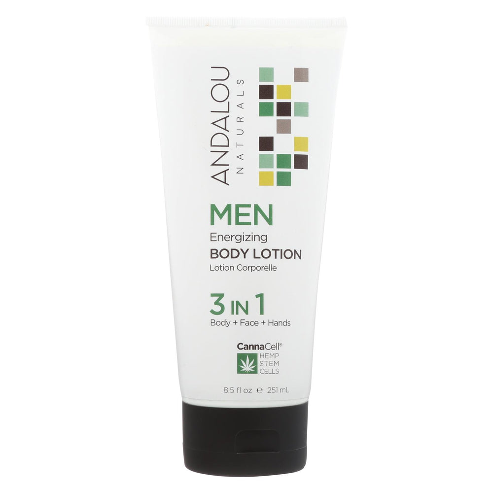 Andalou Naturals - Body Lotion - Men's Energizing - 8.5 Fl Oz.