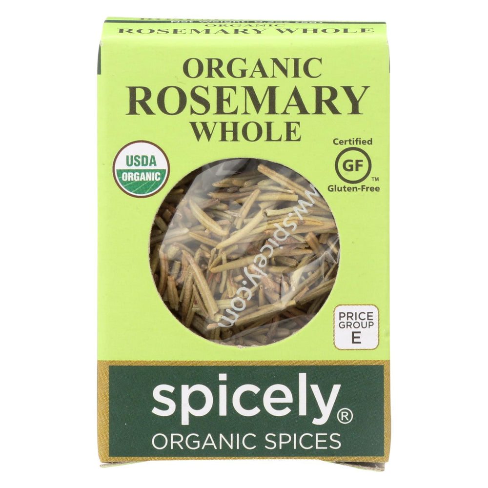 Spicely Organics - Organic Rosemary - Whole - Case Of 6 - 0.2 Oz.
