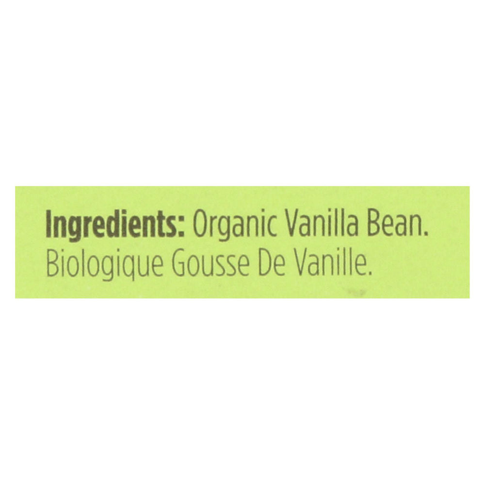 Spicely Organics - Organic Vanilla Bean - Case Of 6 - 0.2 Oz.