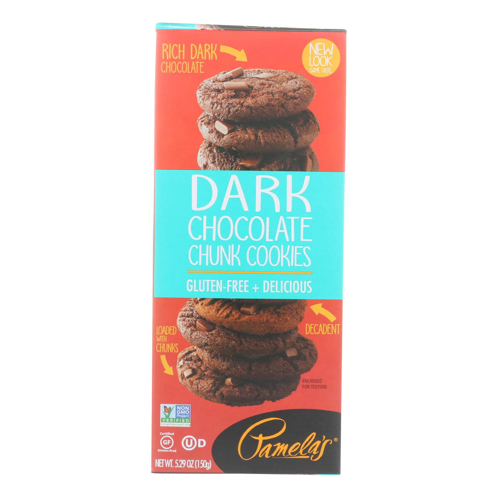 Pamela's Products - Cookies - Dark Chocolate Chunk - Gluten-free - Case Of 6 - 5.29 Oz.