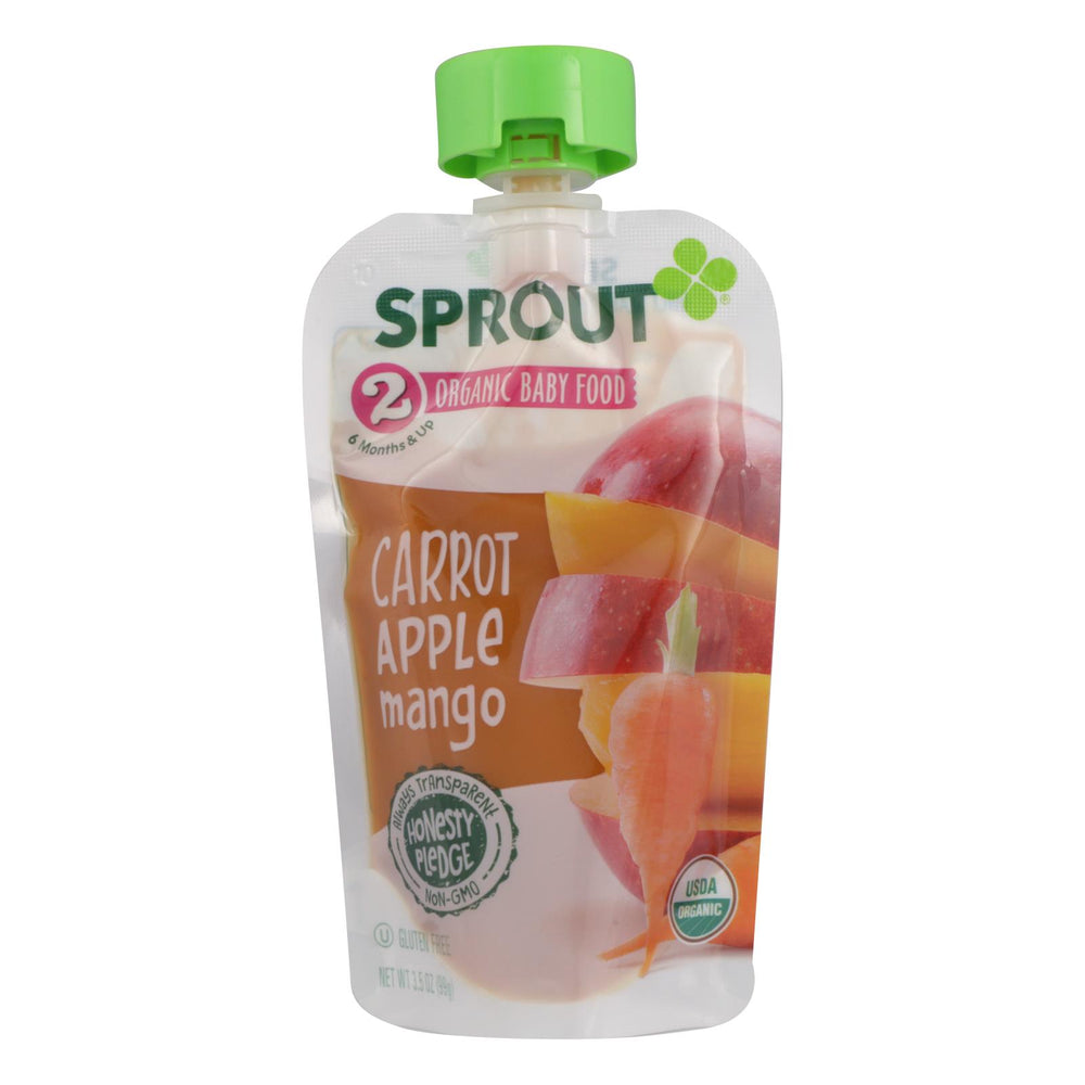 Sprout Foods Inc - Baby Food Carot Apl&mngo - Case Of 12 - 3.5 Oz