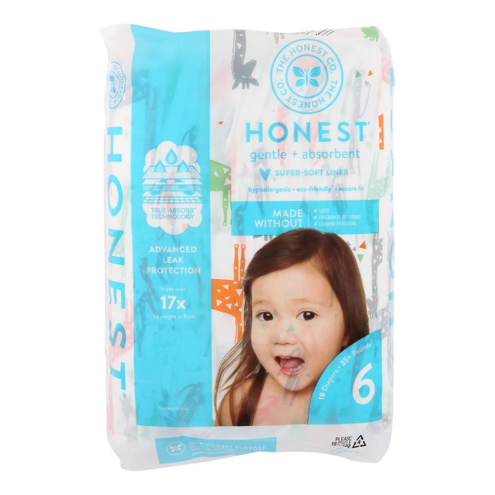 The Honest Company - Dpr Mlt Color Giraffe Sz6 - 1 Each - 18 Ct