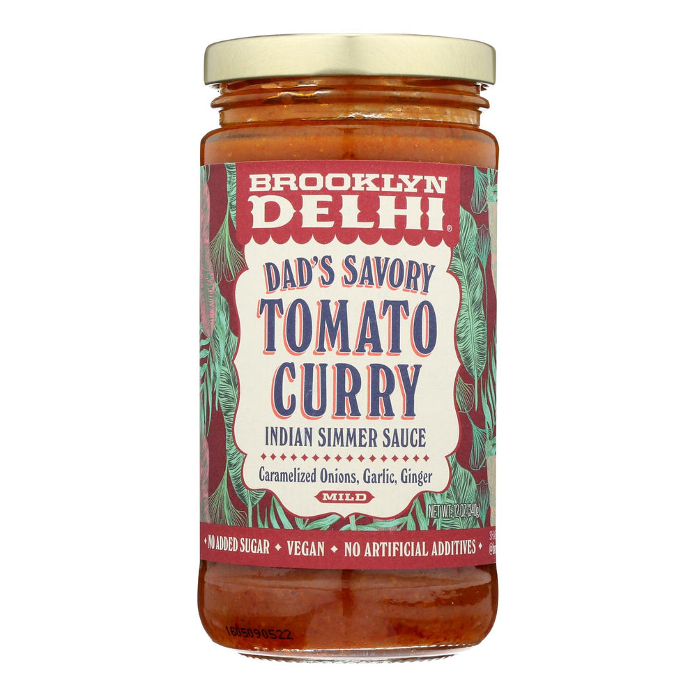 Brooklyn Delhi - Dad's Savory Tomato Curry Simmer Sauce - Case Of 6 - 12 Oz