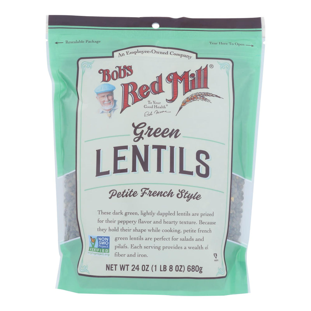 Bob's Red Mill - Beans Pet Fr Green Lentil - Case Of 4-24 Oz