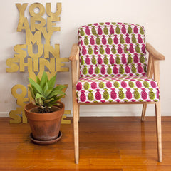 Armchair - Pink Pineapples
