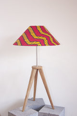 Tripod Lamp - Gold Rope Print