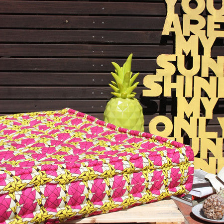 Day Bed - Pink Yellow Geo