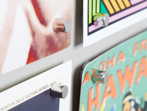 Magnetacks hang posters with magnets