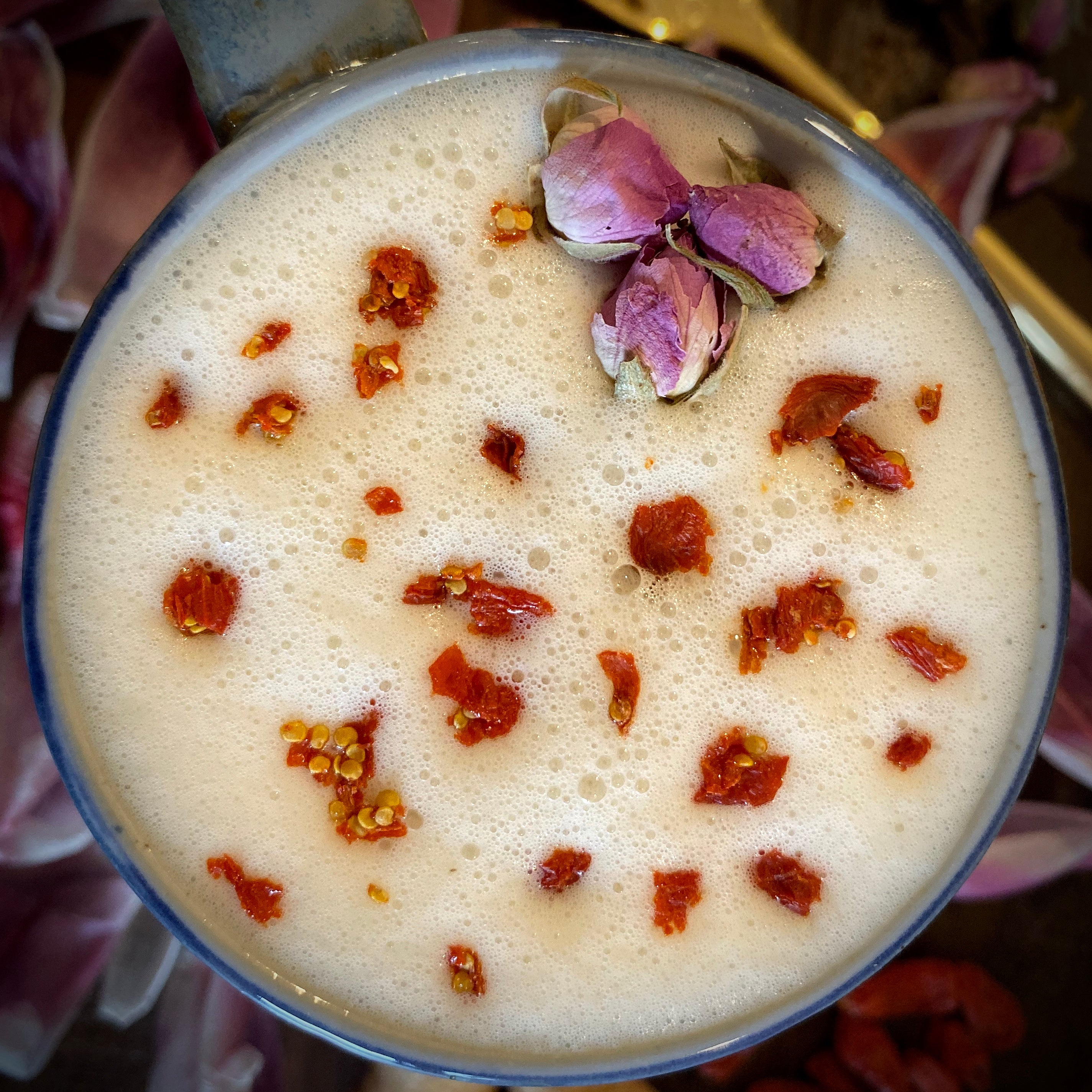 Goji Berry & Rose Latte