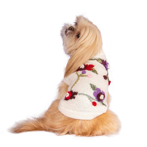 Load image into Gallery viewer, Flower Dog Sweater