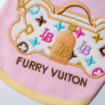 Furry Vuiton Bone Pouchette Dog Top