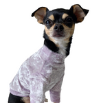 Crushed Velour Long Sleeve Dog Top in Orchid