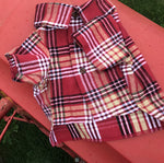 Paramount Plaid Flannel Button Down Dog Shirt