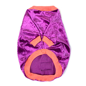 Purple Pop Crushed Velvet Dog Top