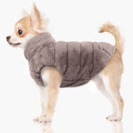 Enya Reversible Puffer Dog Jacket in Grey/Pink