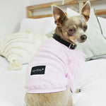 Faux Fur Sleeve Dog Top in Pink