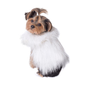 Arctic Ice Faux Fur Dog Vest