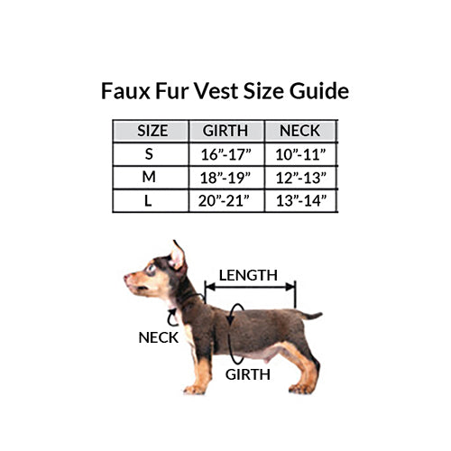 Pinkalicious Faux Fur Dog Vest