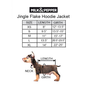 Load image into Gallery viewer, Jingle Flake Hoodie Dog Jacket