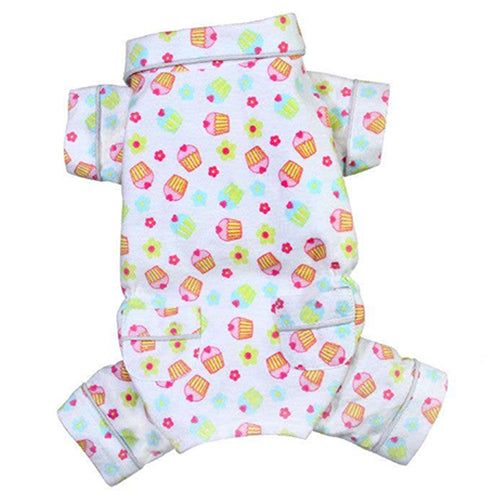 Cupcakes Flannel Pajamas with Pockets