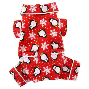 Penguins and Snowflakes Flannel Pajamas with pockets