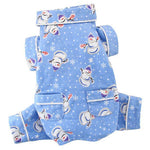 Snowmen and Snowflakes Flannel Pajamas with Pockets